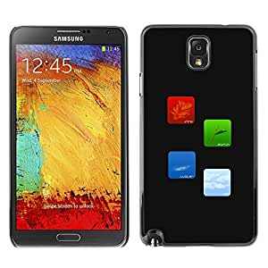 GagaDesign Phone Accessories: Hard Case Cover for Samsung Galaxy Note 3 - Fire Earth Water Air Elements Of Life
