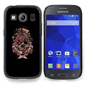 SKCASE Center / Funda Carcasa protectora - Bandera pirata del cráneo de;;;;;;;; - Samsung Galaxy Ace Style LTE/ G357