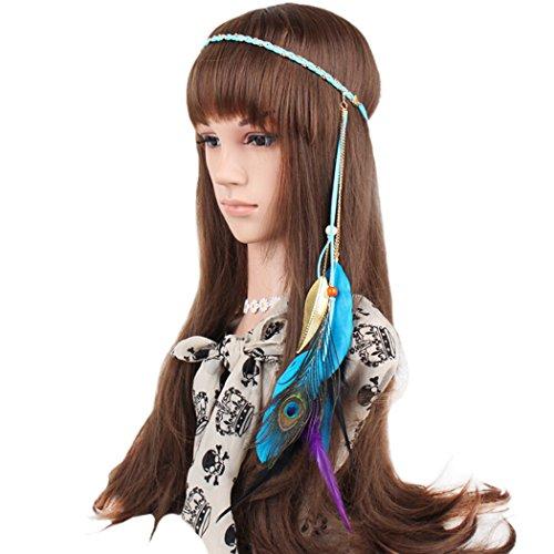 Fascigirl Flapper Headband Bohemian Stylish Feathers Tassels Headwear
