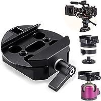Quick Release Plate, FOTYRIG Camera Tripod Mount Adapter for DJI Ronin-m Ronin MX 3-axis Handheld Gimbal Stabilizer Support JIB Crane,Tripod,UAV, Rails Slider, Rocker Arm, Photography Car etc.