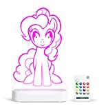 pinkie and blue boy - Aloka My Little Pony Pinkie Pie Multi-Color LED StarLight, with Remote Control, 8 inch, Color Changing