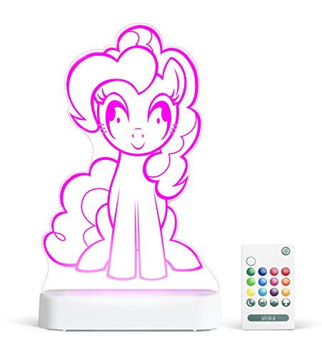 (Aloka My Little Pony Pinkie Pie Multi-Color LED StarLight, with Remote Control,  8 inch, Color Changing)