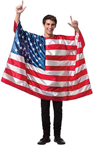 Mememall Fashion USA Flag Patriotic Freedom Tunic Adult Costume (Usa Flag Adult Tunic Costume)