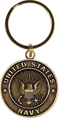 US Navy Keychain Military Products Key Rings Gifts for Servicemen and Veterans by Rush Industries