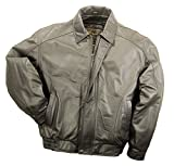 Reed Men's American Style Bomber Genuine Leather Jacket (3XT, Brown)