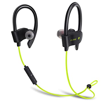 Magiyard Auriculares inalámbricos Bluetooth auriculares auriculares con micrófono para iPhone (Amarillo): Amazon.es: Electrónica