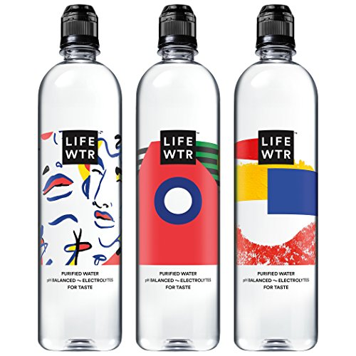 LIFEWTR, Premium Purified Water, pH Balanced with Electrolytes For Taste, 700 mL flip cap bottles (Pack of 12) (Packaging May...