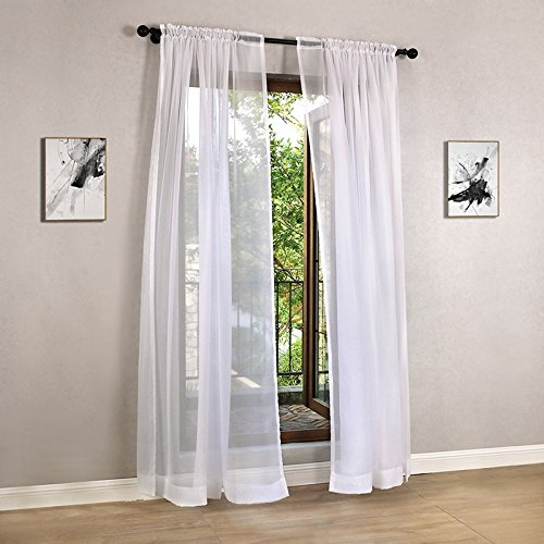 Cheap White Curtains Solid White Tulle Modern Curtains for Living Room Transparent Tulle Curtains Window Sheer for the - Cheap Shades Shutter