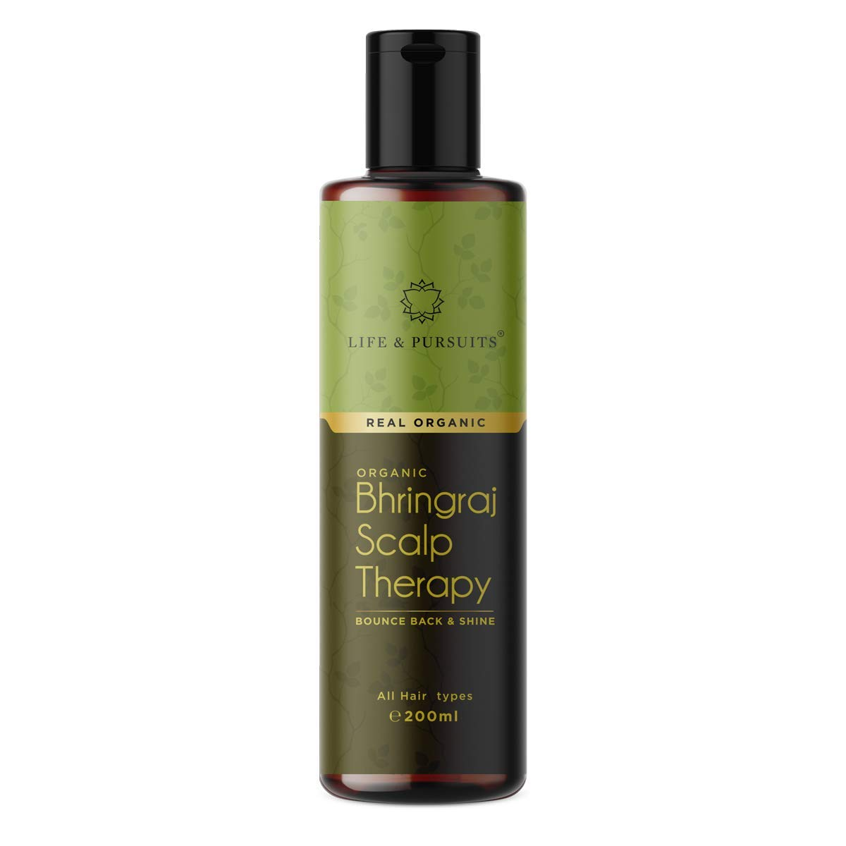 Life & Pursuits USDA Organic Hair Oil For Hair Growth With Bhringraj, Amla, Coconut Oil & Castor Oil | Indian Ayurvedic Dry Scalp Therapy (200 ml/6.76 fl oz)