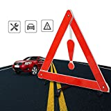 Triangle Kit,3 Pieces Universal Foldable Emergency Car Truck Van Warning Triangle Signs Road Safety Reflective Exclamation Point Sign Triangle Warning Kit Tool YUIOP