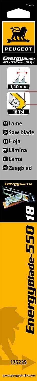 Peugeot 175235/hoja para sierra ingletadora manual 550/mm 550/mm madera//PVC//Alu 18/TPI