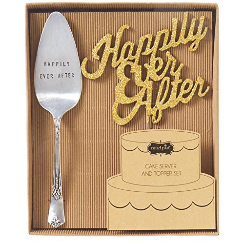 - Mud Pie Happily Ever After Cake Set, Silver