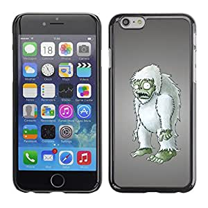 Qstar Arte & diseño plástico duro Fundas Cover Cubre Hard Case Cover para Apple (5.5 inches !!!) iPhone 6 Plus ( Zombie Yet Snowman Furry Figurine 3D Art)