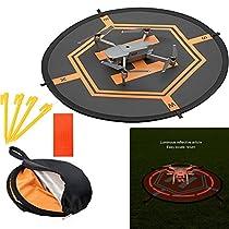 Drone landing pad, Universal Waterproof Portable Fast-Fold UAV Landing Pad for Parrot Disco AR Drones Helicopter, 3D Robotics Solo; PVB Drones, DJI Mavic Pro Phantom 2/3/4/ Pro, AntelR