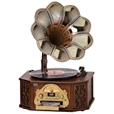 Nostalgia Gramophone Music Center 4-in-1, Bluetooth, AM/FM Radio, USB Record, Dynamic Stereo Speaker BT9840 ( Certified Refurbished)