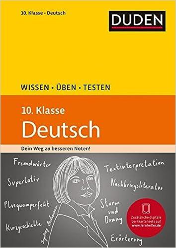 Wissen üben Testen Deutsch 10 Klasse Ideal Zur