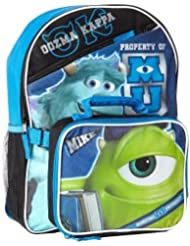 Disney Monsters University Backpack with Detachable Lunch Box Kit