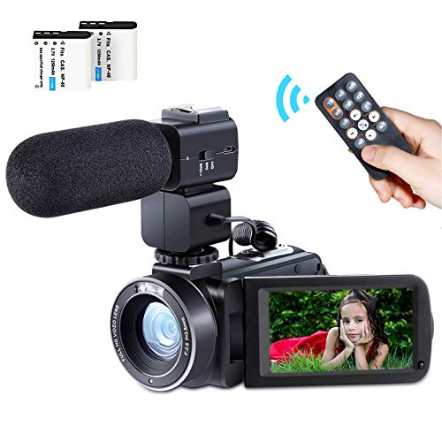 Camcorder Video Camera Full HD 1080P 24MP WiFi Digital Video Camcorder Besteker Remote Control Vlogging Camera for Youtube with 3