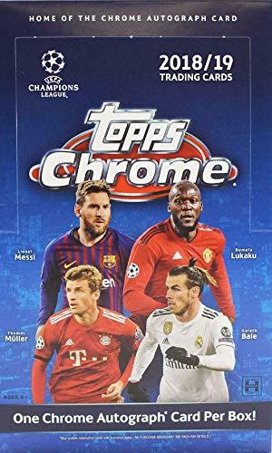 2018/19 (2019) Topps Chrome UEFA Champions League HOBBY Soccer (18 pks/bx) ()
