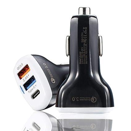Cikuso Cargador USB De Coche Carga Rapida 3.0 para Samsung ...