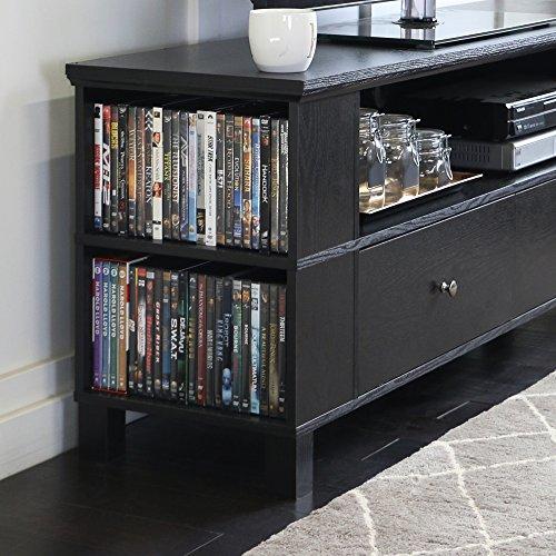 Walker Edison 58″ Black Wood Storage TV Cabinet