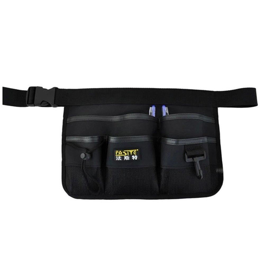 BESTOMZ Garden Tool Belt Garden Waist Bag Gardening Tool Organizer Apron with Multi-Pocket (Black)