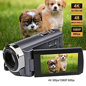 SEREE Camcorder 4K 48MP WIFI Control Digitial Camera 3.0'' Touch Screen Night Vision Video Camcorder with Pause Function from SEREE