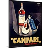 Canvas on Demand Premium Thick-Wrap Canvas Wall Art Print entitled Italian Campari Aperitif Liquer Vintage Advertising Poster 18''x24''