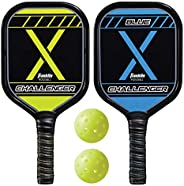Franklin Sports 2 Player Pickleball-X Set - Includes 2 Aluminum Paddles and 2 Pickleballs