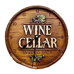 Wine Cellar Wall Clock