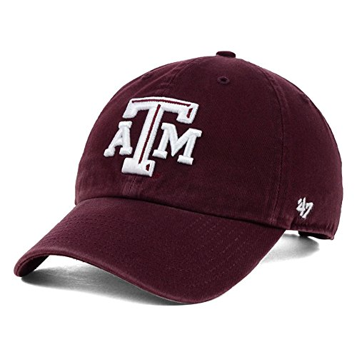 NCAA Texas A&M Aggies '47 Brand Clean Up Adjustable Hat, Dark Maroon 1, One Size