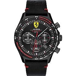 Scuderia Ferrari Mens Chronographe Quartz Montre avec Bracelet en Cuir 830712 19