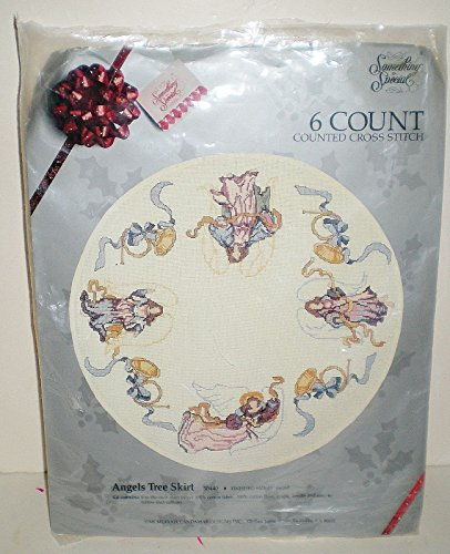 Something Special 6 count Cross Stitch Angel Tree Skirt Kit 50440
