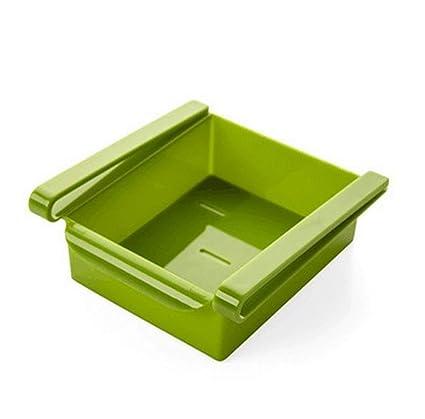 Bandejas de plástico deslizantes para nevera o congelador de WJkuku, cajas de almacenamiento