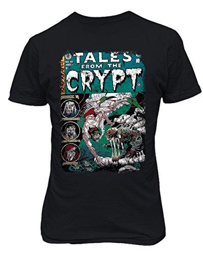 - RIVEBELLA New Novelty Graphic Tee Horror Crypt Comic Mens T-Shirt