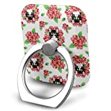 Tuxedo Cat and Roses Phone Ring Stand Holder Cell Finger Stand Grip Kickstand 360Degree Rotation Mount Universal Smartphone Kickstand