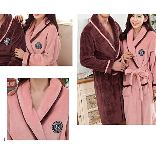 Pajama Casual Set chaud Pyjamas Femmes/Lovers flanelle Nightgown X-grand-A2