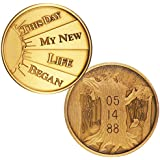 Personalized Custom Engraved This Day My New Life Began Bronze AA (Alcoholics Anonymous)-ACA-AL-ANON-NA-Sober-Sobriety-Birthday-Medallion-Coin-Chip-Token