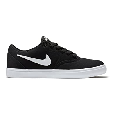 Nike Men's SB Check Solar Black/White Canvas Skate Shoe