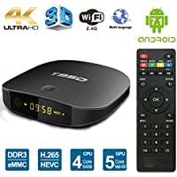 Edal Android 6.0 TV Box Amlogic T95D (RK3229 CPU) 1GB DDR 8GB Flash with Remote Control HD 2.0 up to 4k2k Output Support 1080P/AV/Dolby/3G
