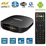 Edal Android 6.0 TV Box Amlogic T95D ( RK3229 CPU) 1GB DDR 8GB flash with Remote Control HD 2.0 up to 4k2k Output support 1080P/AV/Dolby/3G