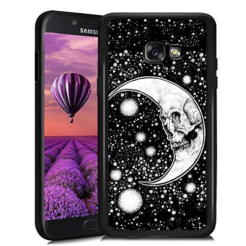 Dorado Fish Tail - Carcasa para Samsung Galaxy A5 2017 (TPU, antigolpes, antiarañazos, Antideslizante), Color Negro, Moon...