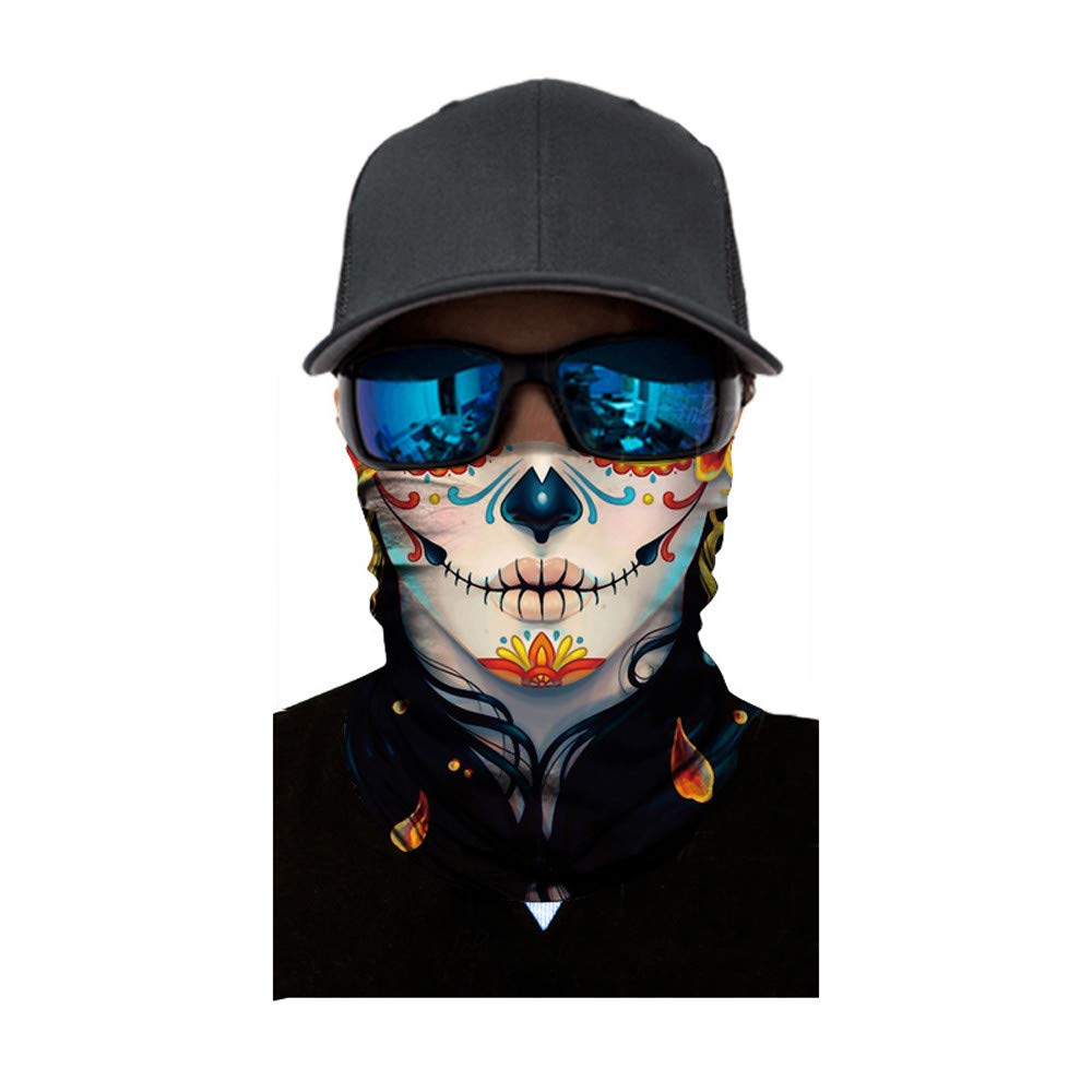 Hot Sale!UMFun Cycling Mask Motorcycle Neck Tube Ski Scarf Face Mask Balaclava Halloween Party (L)