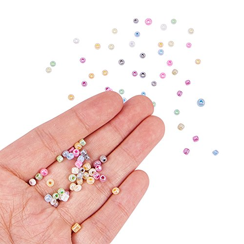 PandaHall Elite Ceylon Round Glass Loose Spacer Beads 3mm Diameter Multi-color 1 Box: Amazon.es: Hogar