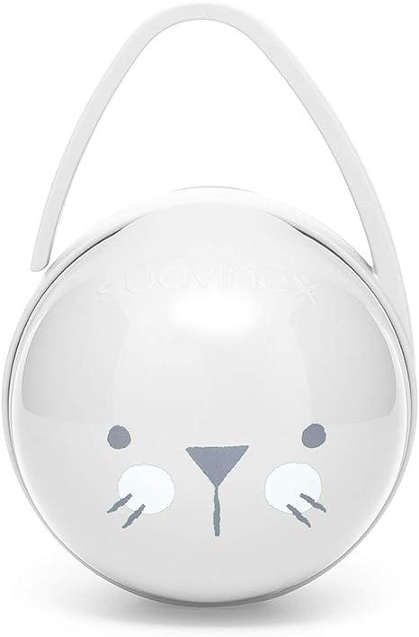 Suavinex - Portachupete Premium Bebé para Llevar 2 Chupetes, Caja Portachupetes Portátil, Funda para Chupetes, Color Whiskers Gris: Amazon.es: Bebé