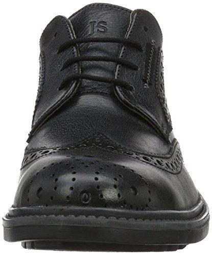 Josef Seibel Oscar 19, Zapatos de Cordones Brogue para Hombre Schwarz (schwarz/grey)