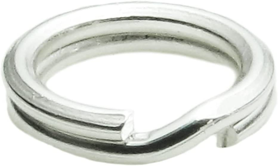 VALYRIA Sterling Silver Split Jump Ring Connector Charm Jewelry Findings,20pcs 5.0mmx0.5mm