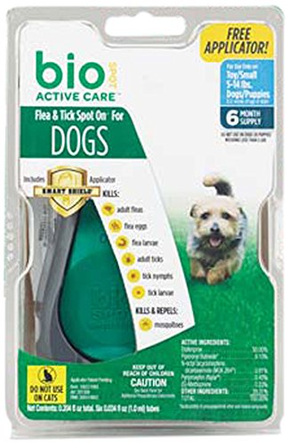 Bio Spot Active Care Flea & Tick Spot On With Applicator for Small Dogs (5-14 lbs.) (Bio Flea And Tick Spot On Reviews)