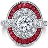 6.35CT Ruby&White Topaz 925 Silver Ring Vintage Wedding Engagement Size 6-10#by pimchanok shop (9)