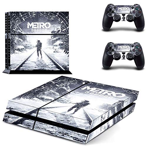 PS4 Slim Console Skin and 2 Dualshock 4 PS4 Controller Skin Cover Protective Vinyl Decal - Metro Exodus by Mr Wonderful Skin -